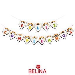 Guirnalda feliz cumpleaños arcoiris 5M