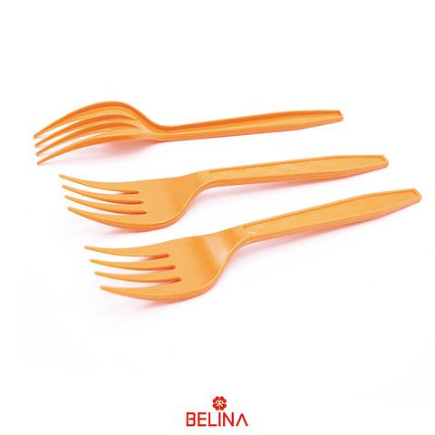 Tenedor plastico naranja
