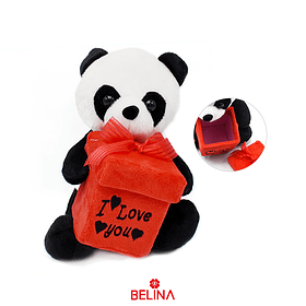 Oso panda de peluche con cajita de regalo 20 cm