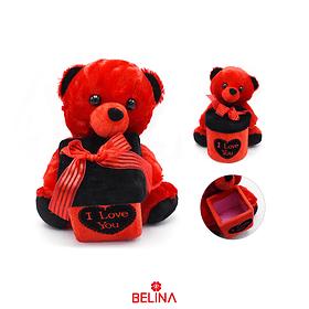 oso de peluche completo con cajita de regalo  20 x 17 cm