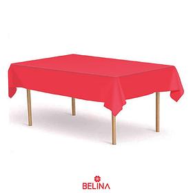 Mantel plastico rojo