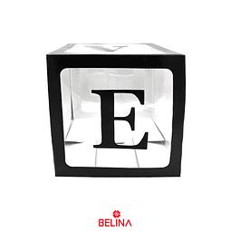 Caja transparente con letras love color negro 1pc 30cm