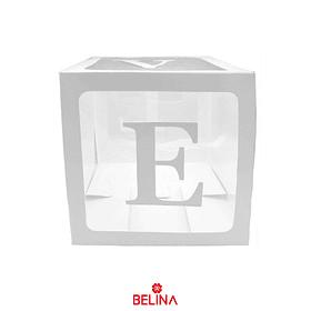 Caja Transparente Con Letras Love Color Blaco 1pcs 30cm
