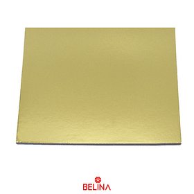 Plato torta cuadrado oro 35cm 2mm