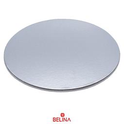 Base redonda gruesa plata 35cm 5mm