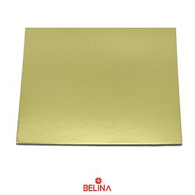 Base Cuadrada Gruesa Oro 40cm 5mm