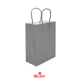 Bolsa de papel mediana gris