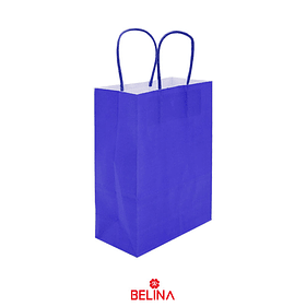 Bolsa de papel mediana azul