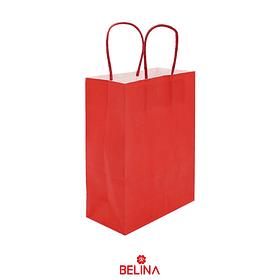 Bolsa de papel grande roja