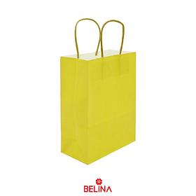 Bolsa de papel grande amarilla