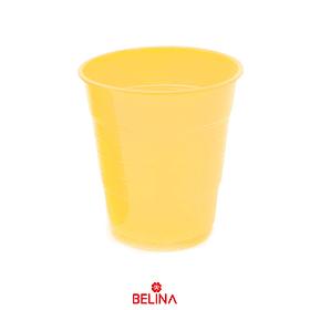 Vaso plastico 300cc amarillo