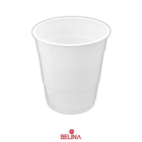 Vaso plastico 300cc blanco 10pcs