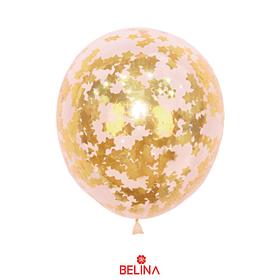 Globo con confetti estrella dorada