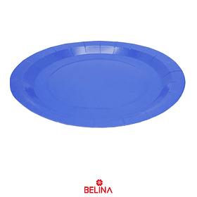 Plato De Carton Azul 23cm