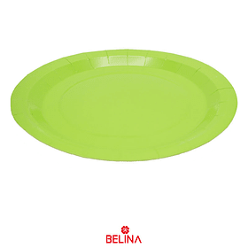 Plato De Carton Verde 23cm