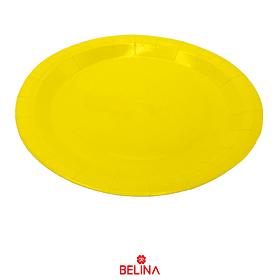 Plato De Carton Amarillo 23cm