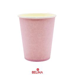 Vasos de carton rosado