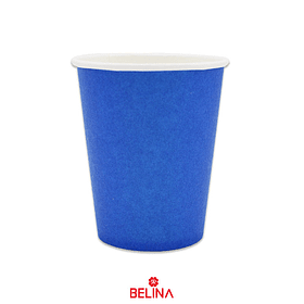 Vasos de carton azul
