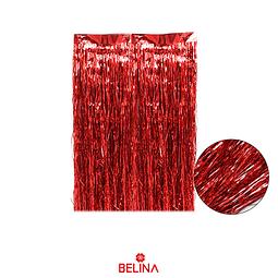 Cortina para mesa roja tornasol 3pcs 30x50cm
