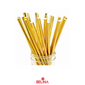 Bombillas oro 25pcs 6x197mm