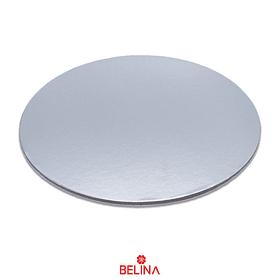 Base redonda gruesa plata 25cm 5mm