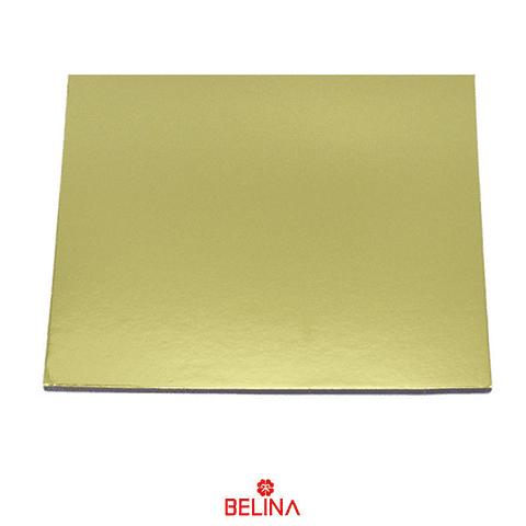 Base cuadrada gruesa oro 25cm 5mm