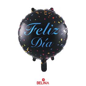 "Globo Feliz Dia Negro 18"" 45x45cm"