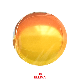 """Globo Metalico Redondo Naranja 24"""""""