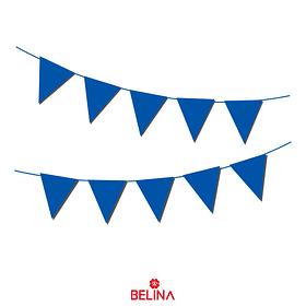 Guirnalda de banderines azul 10pcs 3m