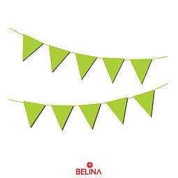 Guirnalda de banderines verde 10pcs 3m