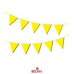 Guirnalda de banderines amarilla 10pcs 3m