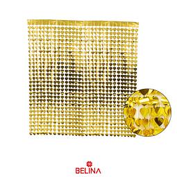 Cortina metalica corazones dorada 100x200cm