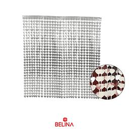 Cortina metalica corazones plateada 100cmx200cm