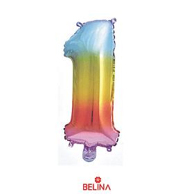 """Globo número 1 multicolor 16"""""""