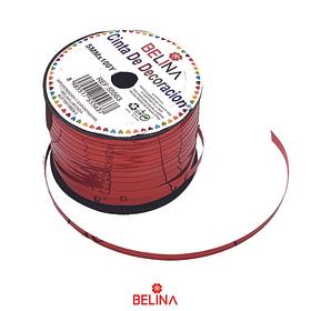 Cinta de rollo metalica roja 5mmx100y