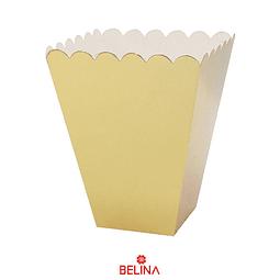 Cajas para cabritas dorado 6pcs 12x12x15cm