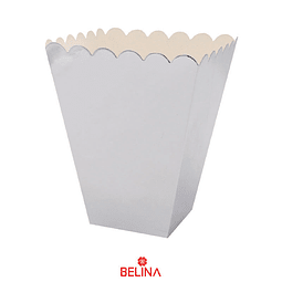 Cajas para cabritas plata 6pcs 12x12x15cm