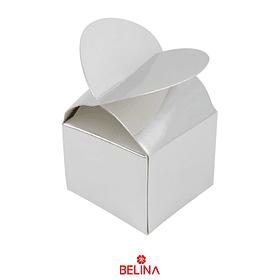 Cajas Para Dulces Plateada Peq. 6pcs 6x6x10cm
