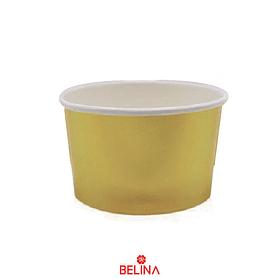 Tazas de carton dorada 6pcs 8.5x5.7cm