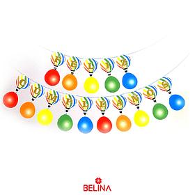 Guirnalda globos aerostáticos feliz cumpleaños