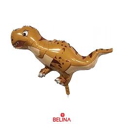 Globo metalico de dinosaurio amarillo 52 x 85,5cm