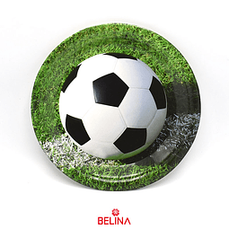 Plato De Carton De Futbol De 7 Pulgadas 6 Pcs