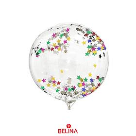 Globo Burbuja Confeti Estrella Multicolor