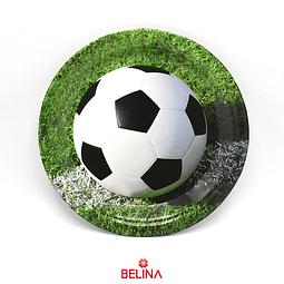 Plato De Carton De Futbol De 9 Pulgadas 6 Pcs