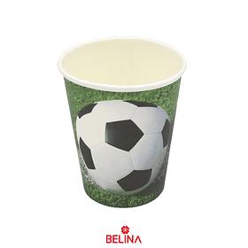 Vaso De Carton De Futbol De 9 Oz 6 Pcs