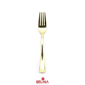 Tenedor De Plástico Color Oro 6 Pcs 18,5 Cm
