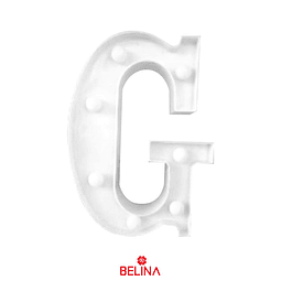 Letra con luz led G