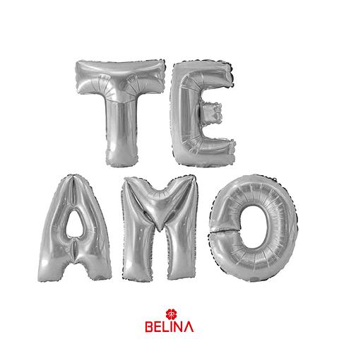 Globo Metalizado Te Amo Plata