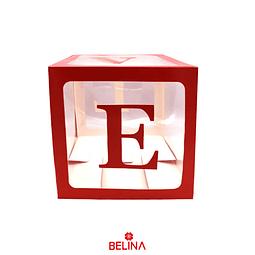 Caja transparente con letras love color rojo 1pc 30cm