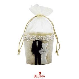 Mini saco de recuerdo para boda